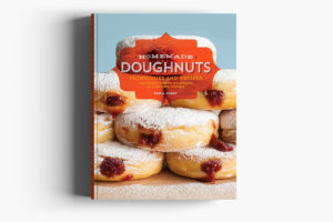 Homemade Doughnuts Cookbook Cover Design