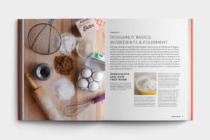 Homemade Doughnuts Cookbook Design