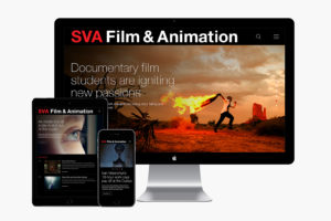 School of Visual Arts Film & Animation Microsite Design