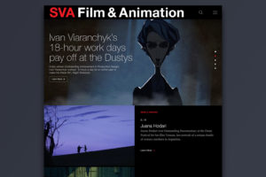 School of Visual Arts Film & Animation Responsive Microsite