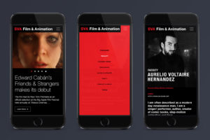 School of Visual Arts Film & Animation Responsive Microsite Mobile Design