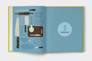 Kitchen indispensable book illustrations