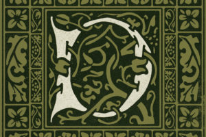 Type Deck Illuminated Letter Detail Kelmscott