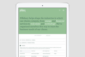 Pillsbury website design