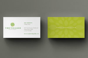 The Village Dallas Business Card Design