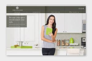 The Village Dallas Home Page Design