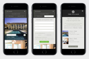 The Village Dallas Mobile Website UX Design